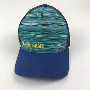 559e7ae1955e8 PrAna Mesh Trucker Hat Cap Blue adjustable